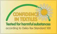 Certified by Oeko-Tex 100 Standard